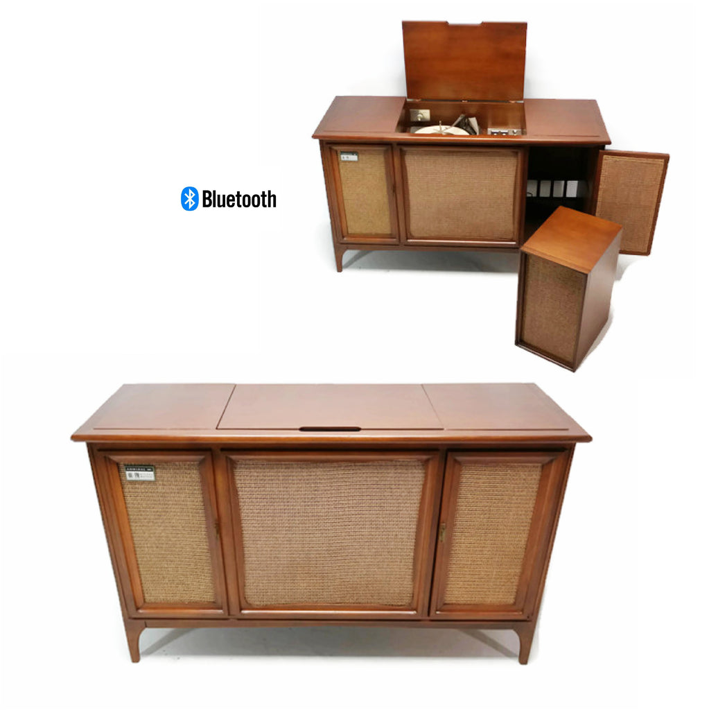 The Vintedge Co™ - ADMIRAL Mid Century Record Player Changer Stereo Console - Bluetooth