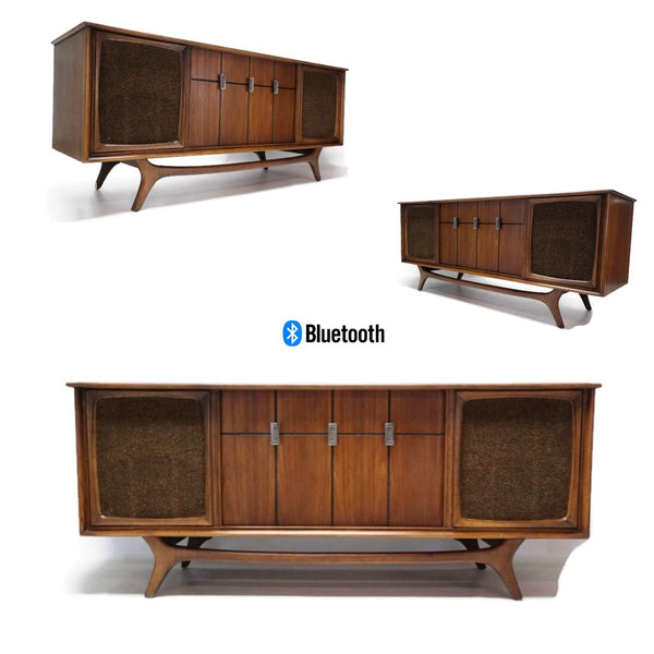 The Vintedge Co™ - RCA Mid Century Vintage Record Player Changer Stereo Console AM FM  - Bluetooth
