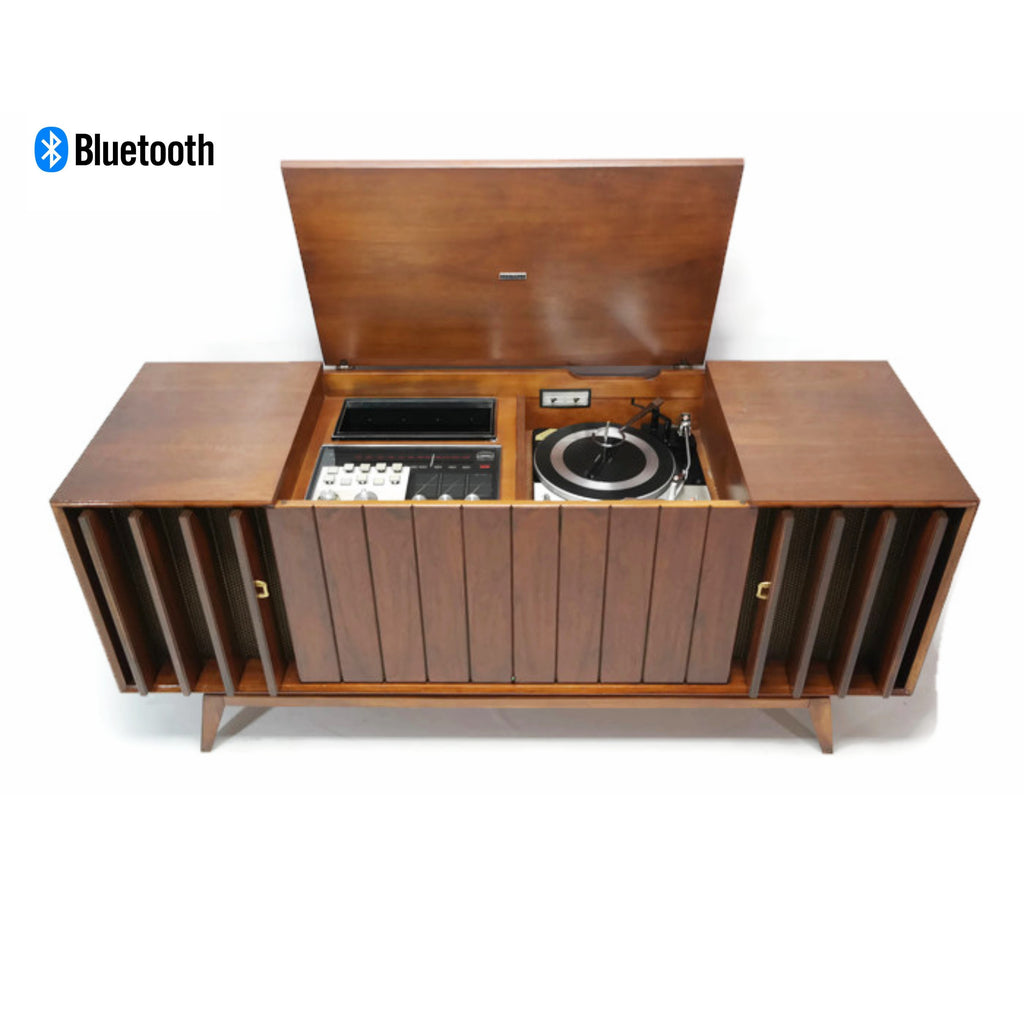 The Vintedge Co™ - ZENITH DELUXE Louver Door Record Player Changer Stereo Console AM FM Bluetooth