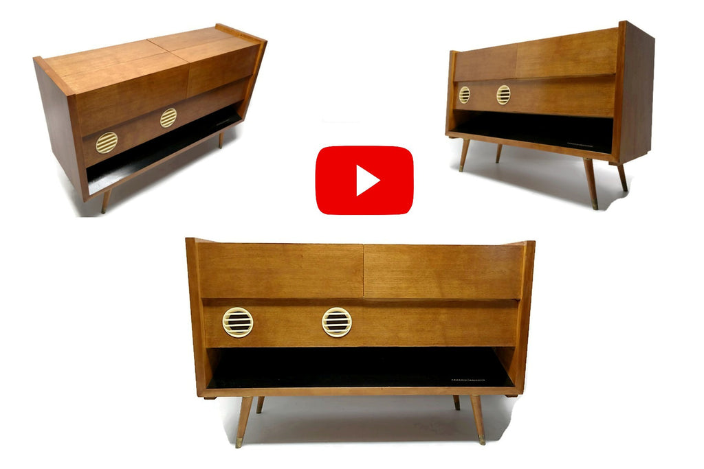 The Vintedge Co™ Video - GRUNDIG MAJESTIC Vintage Record Player Changer Hi Fi Console