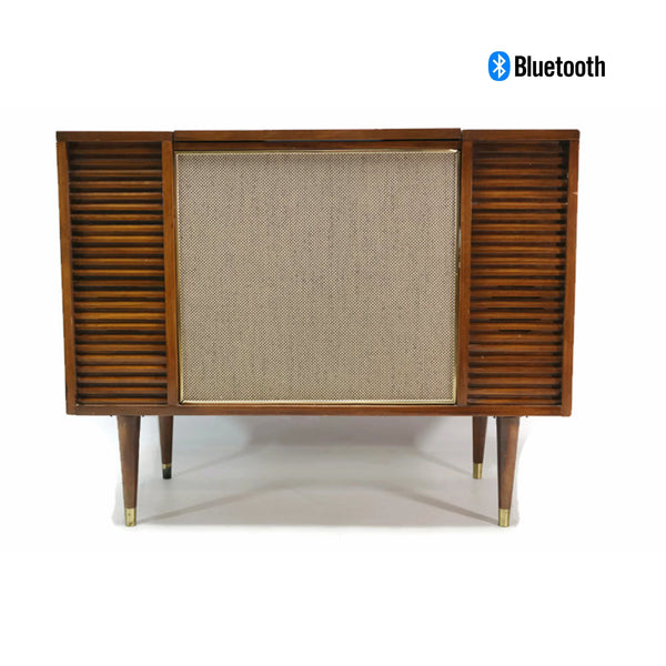 The Vintedge Co™ - TURNTABLE-READY SERIES - Mid Century Record Player Stereo Cabinet Console FM Bluetooth