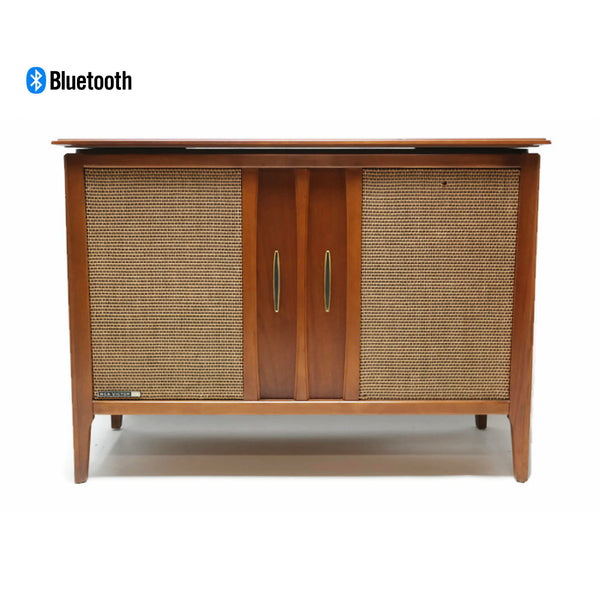 The Vintedge Co™ - RCA VICTOR Mid Century Stereo Console Record Player Changer AM FM Bluetooth