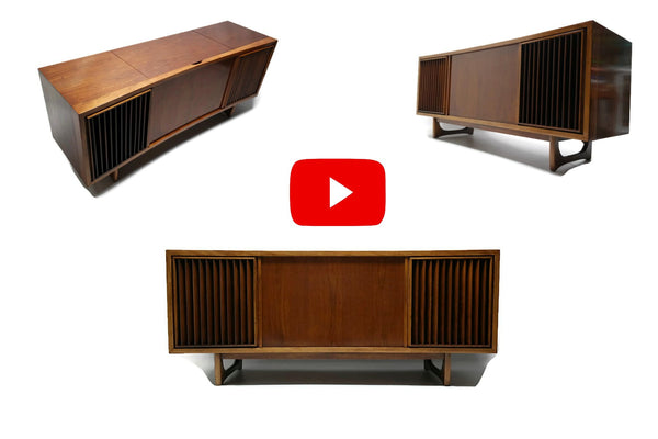 The Vintedge Co™ Video - RCA Vintage Curved Front Record Player Changer Stereo Console