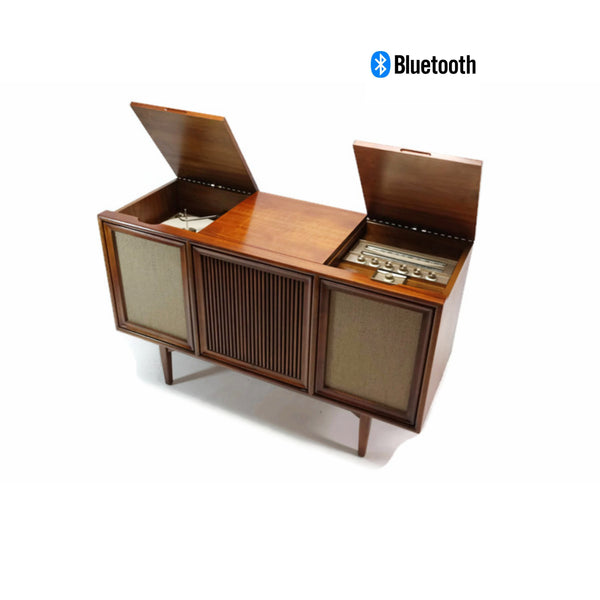 The Vintedge Co™ - MOTOROLA 3-Channel Mid Century Record Player Changer Stereo Console