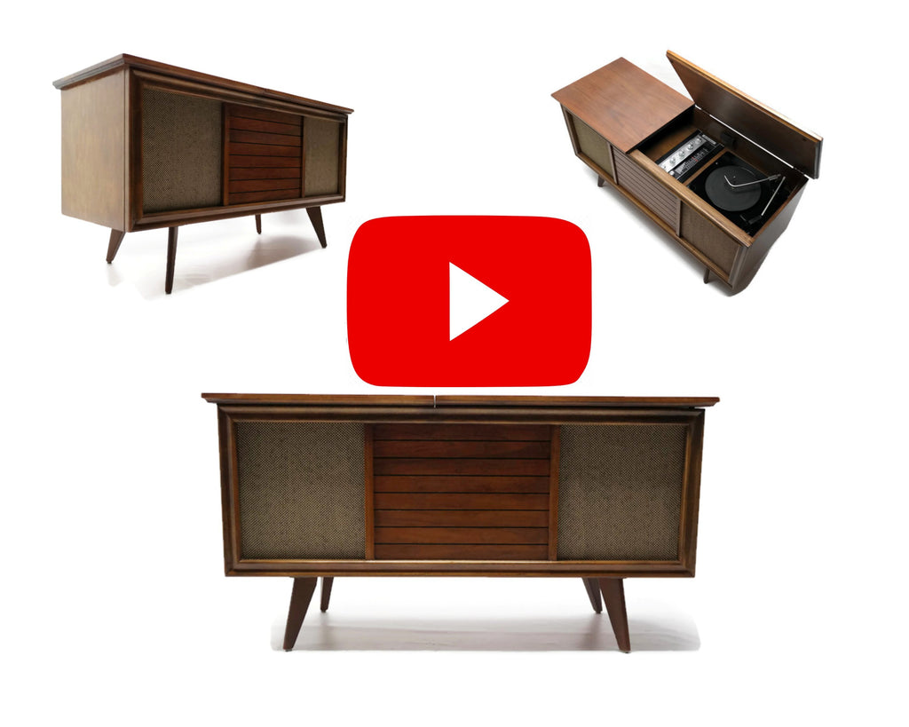 The Vintedge Co™ - AIRLINE Petite & Low Small Vintage Record Changer Stereo Console