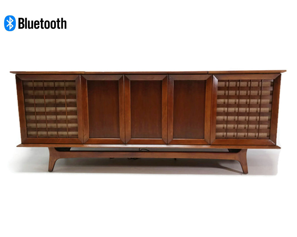 The Vintedge Co™ - SILVERTONE Mid Century Record Player Changer Stereo Console