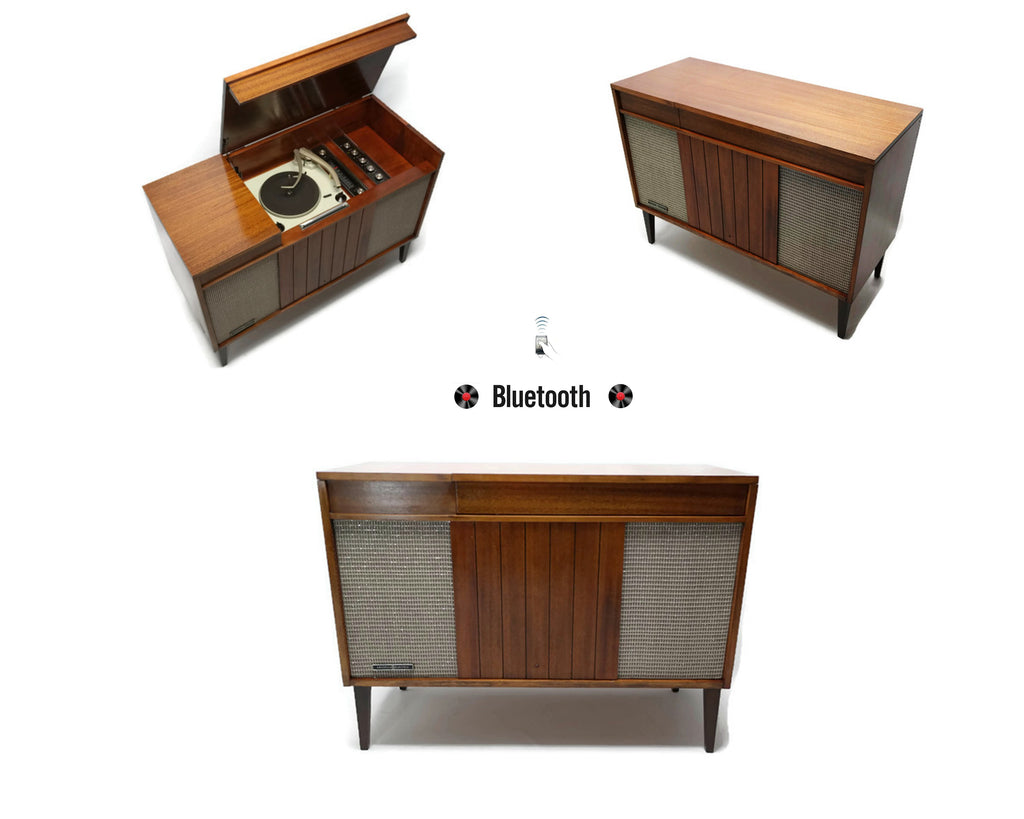 The Vintedge Co™ - GE Mid Century Vintage Record Player Changer Stereo Console