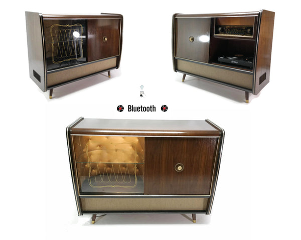 The Vintedge Co™ - BLAUPUNKT Mid Century Record Changer Player Stereo Console w/Built-in Bar