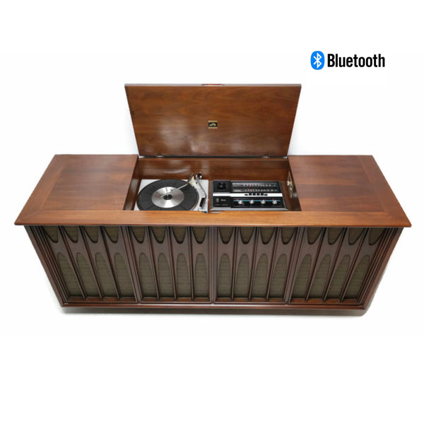 The Vintedge Co™ - RCA BRASILIA/COFFEY Mid Century Record Player Changer AM|FM Stereo Console - Bluetooth