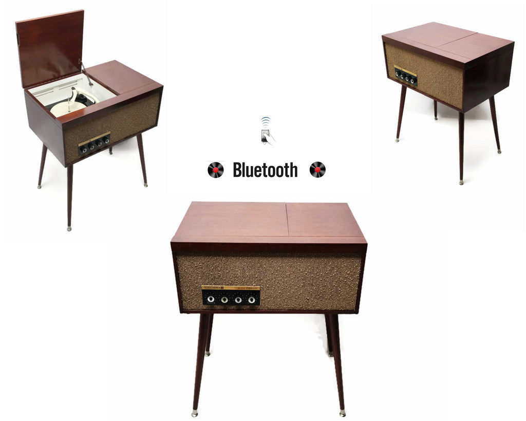 The Vintedge Co™ - COLUMBIA Vintage Record Player Changer Small Stereo Console