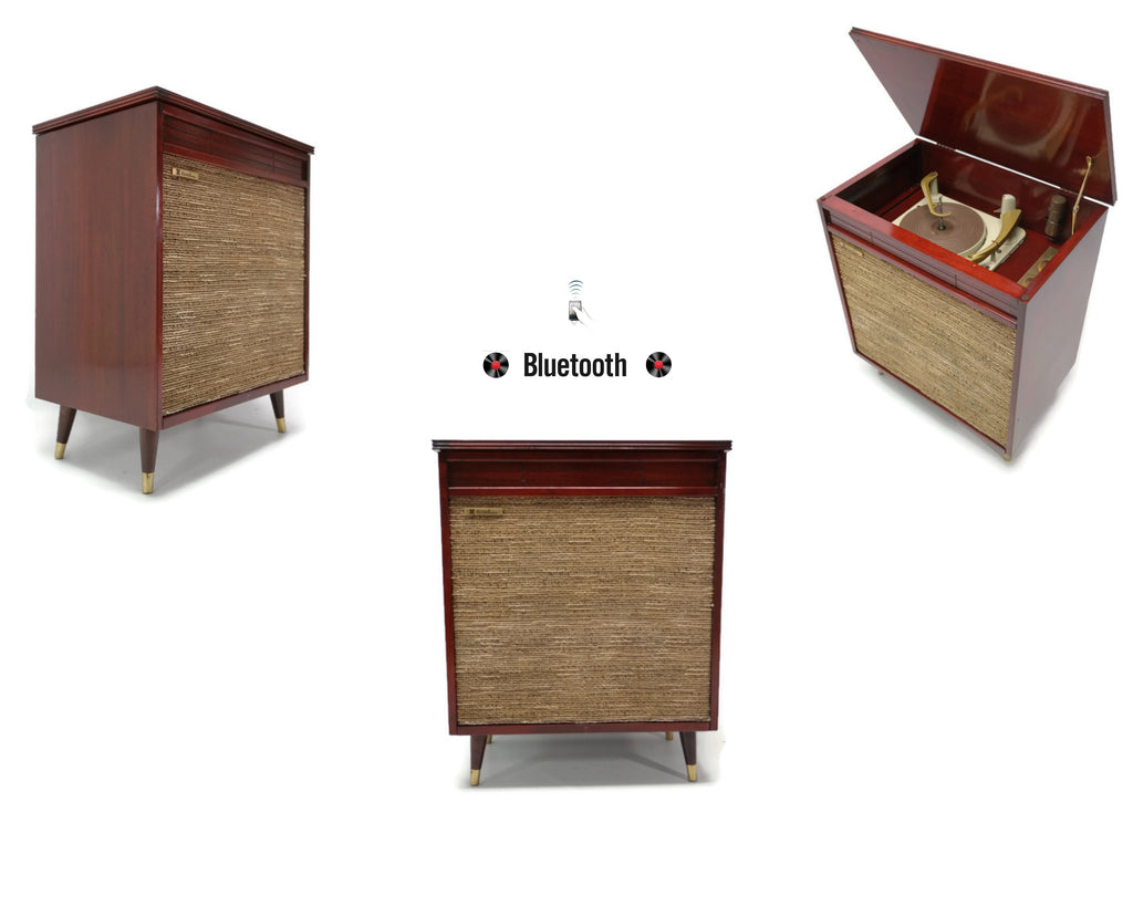 The Vintedge Co™ - TRUTONE 50's Mid Century Record Player Changer High Fidelity Console