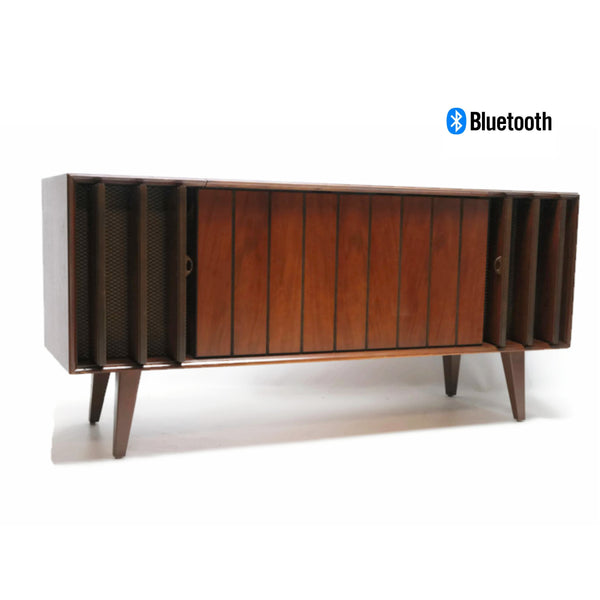 The Vintedge Co™ - ZENITH Mid Century Louver Door Record Player Changer Stereo Console