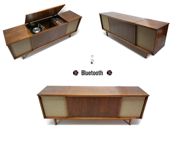 The Vintedge Co™ - WESTINGHOUSE Long and Low Vintage Record Player Changer Stereo Console