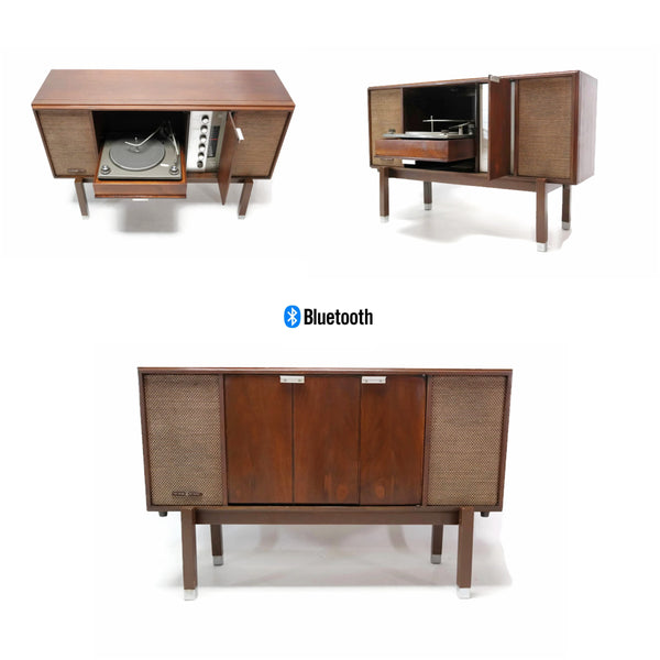 The Vintedge Co™ - VOICE OF MUSIC 60's Record Player Changer Stereo Console Wall Table or Stand Cabinet - Bluetooth