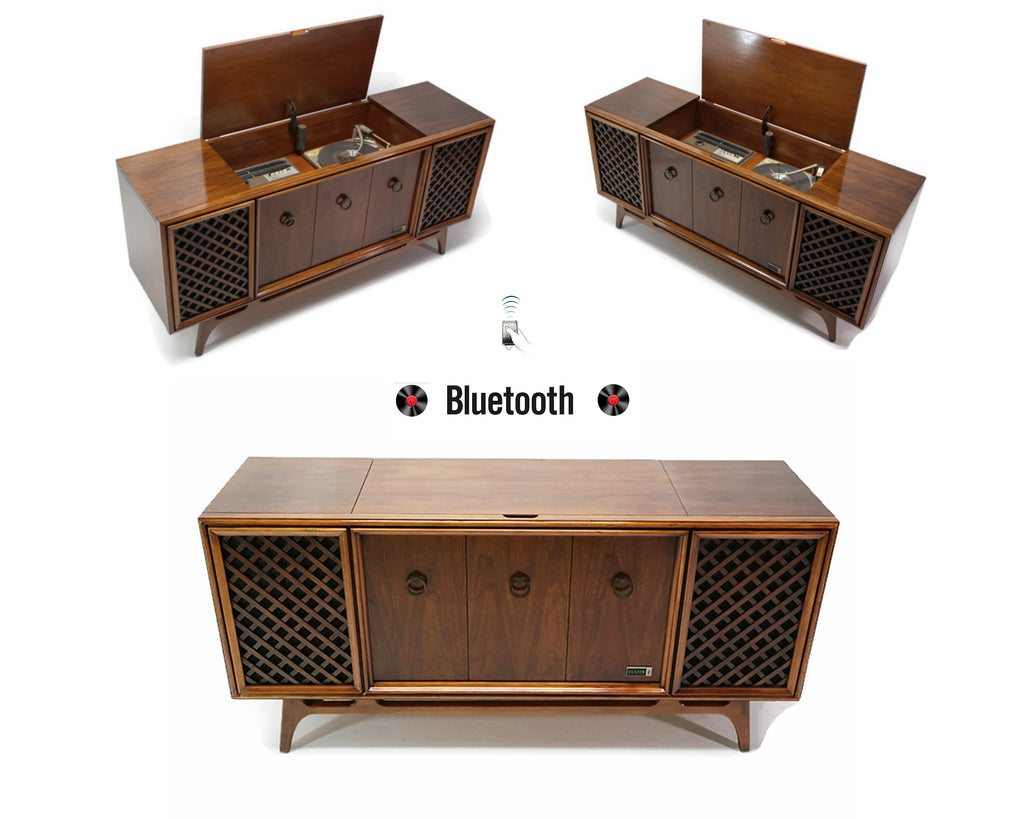 The Vintedge Co™ - ZENITH Mid Century Vintage Record Player Changer Stereo Console
