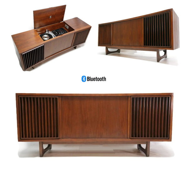 The Vintedge Co™ - RCA Mid Century Curved Front Record Player Changer Stereo Console - Bluetooth