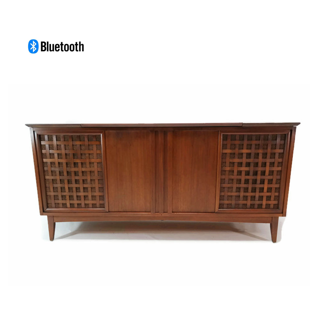 The Vintedge Co™ - THE FISHER Mid Century Modern Stereo Console Record Player Changer