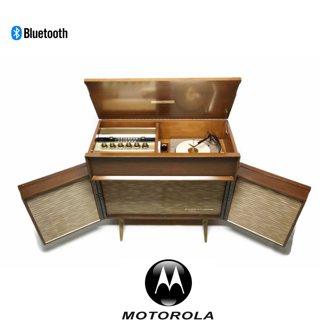 The Vintedge Co™ - MOTOROLA 3-Channel Vintage Record Changer Player Stereo Console w/Flip-Out Speakers