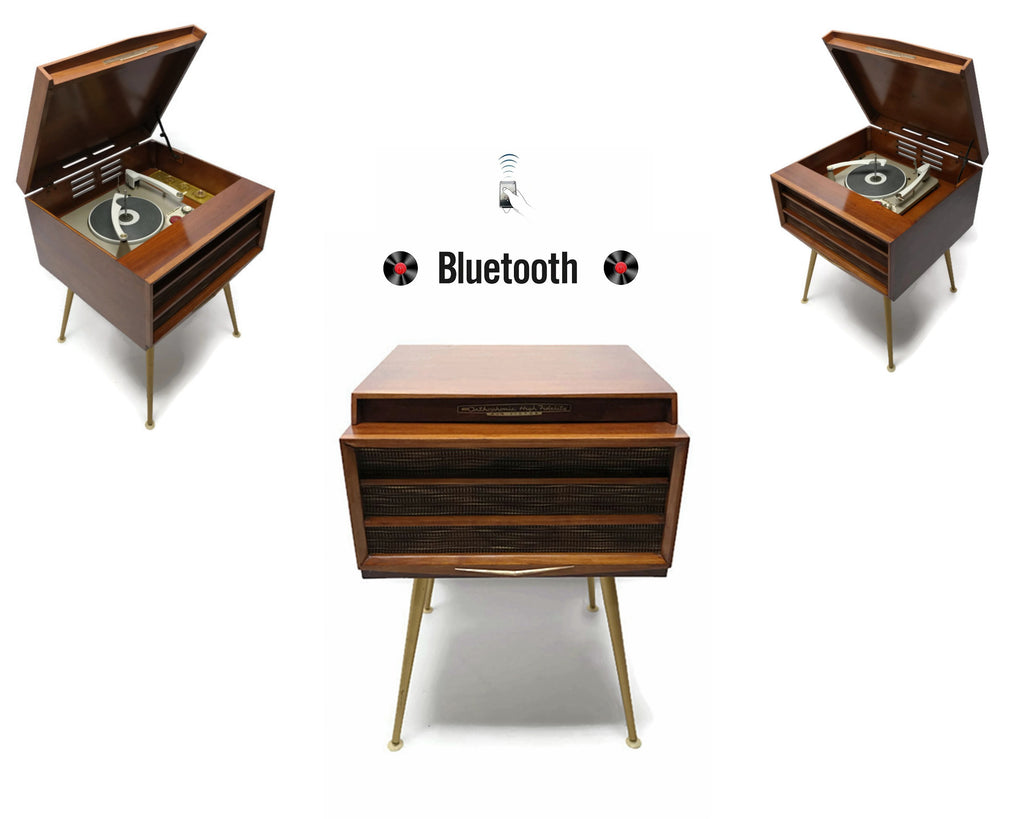 The Vintedge Co™ - ORTHOPHONIC High Fidelity 4-Speed Record Player Changer Hi-Fi Bluetooth