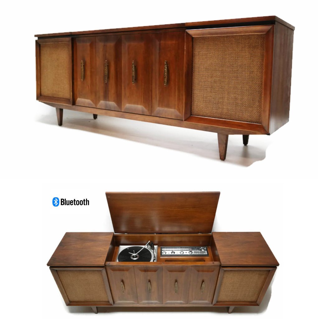 The Vintedge Co™ - PHILCO Mid Century Vintage Record Player Changer Stereo Console - Bluetooth