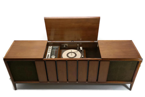 The Vintedge Co™ - ADMIRAL Long and Low Stereo Console AM/FM Tuner Record Player Changer