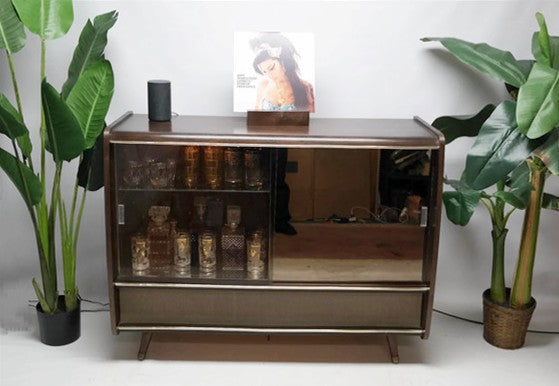The Vintedge Co™ - BLAUPUNKT ARKANSAS Mid Century Record Changer Player Stereo Console w/Whiskey Bar