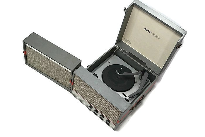 The Vintedge Co™ - COLUMBIA 50s 60s Portable Turntable Record Player Stereo