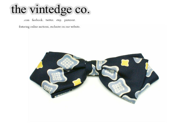 SOLD | 50s 60s Rockabilly Blue Bow Neck Tie