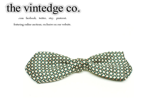SOLD | 50s 60s Rockabilly Green Atomic Bow Neck Tie