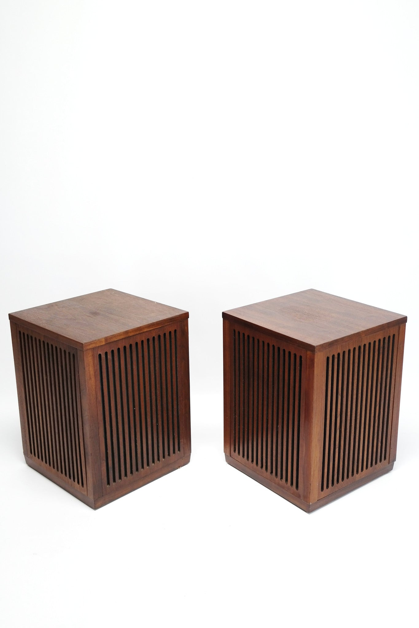 Sold Mid Century Modern Cube Wood Speakers S2 The Vintedge Co