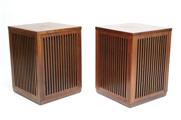 Sold Mid Century Modern Cube Wood Speakers S 2 The