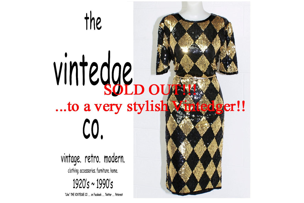 SOLD - Vintage Bead Sequin Dress