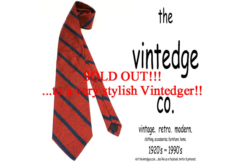 SOLD - Mens Silk Tie