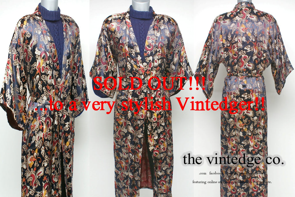 SOLD - Vintage Mens Robe