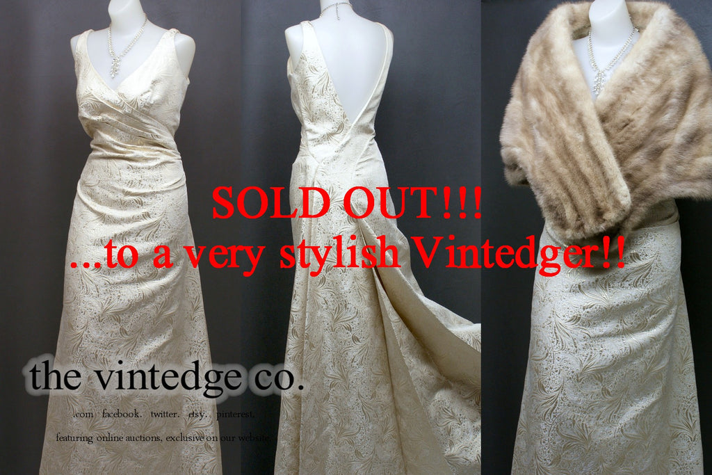 SOLD - Vintage Wedding Bridal Dress