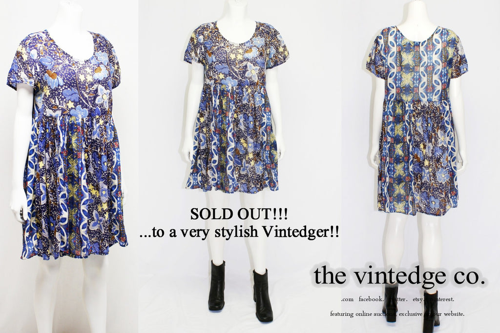 SOLD - Vintage Grunge Mini Dress