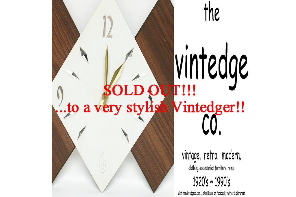 SOLD - Mid Century Modern Wall Clock