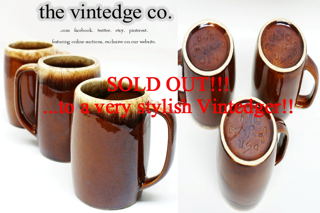 SOLD - Vintage Drip Glaze Cups