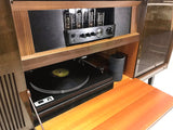 **SOLD OUT** VintedgeCo™ - TURNTABLE-READY SERIES - GRUNDIG 60s Mid Century Stereo Console Turntable Record Player Cabinet AM FM Bluetooth Echo Dot