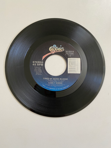 Carly Simon - Tired of Being Blonde | 45