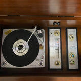 **SOLD OUT**  ZENITH 60s Vintage Stereo Console Record Player Changer AM FM Bluetooth Alexa