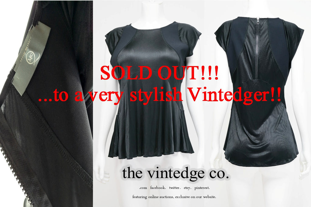 SOLD - McQueen Black Top