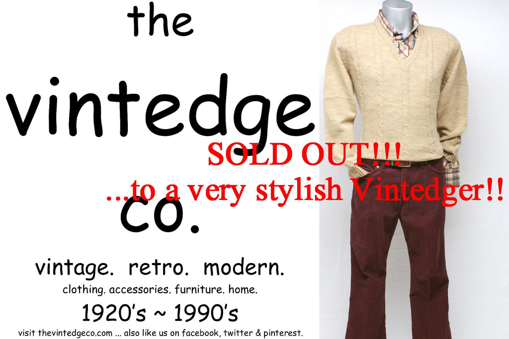 SOLD - Vintage Mens Sweater