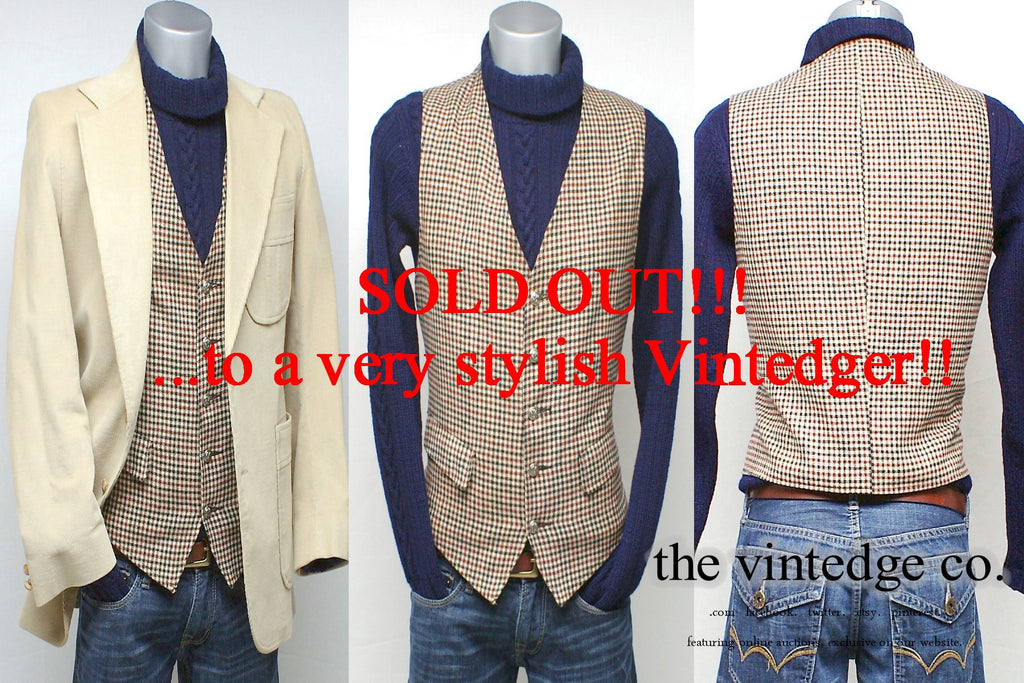 SOLD - Vintage Mens Vest Coat