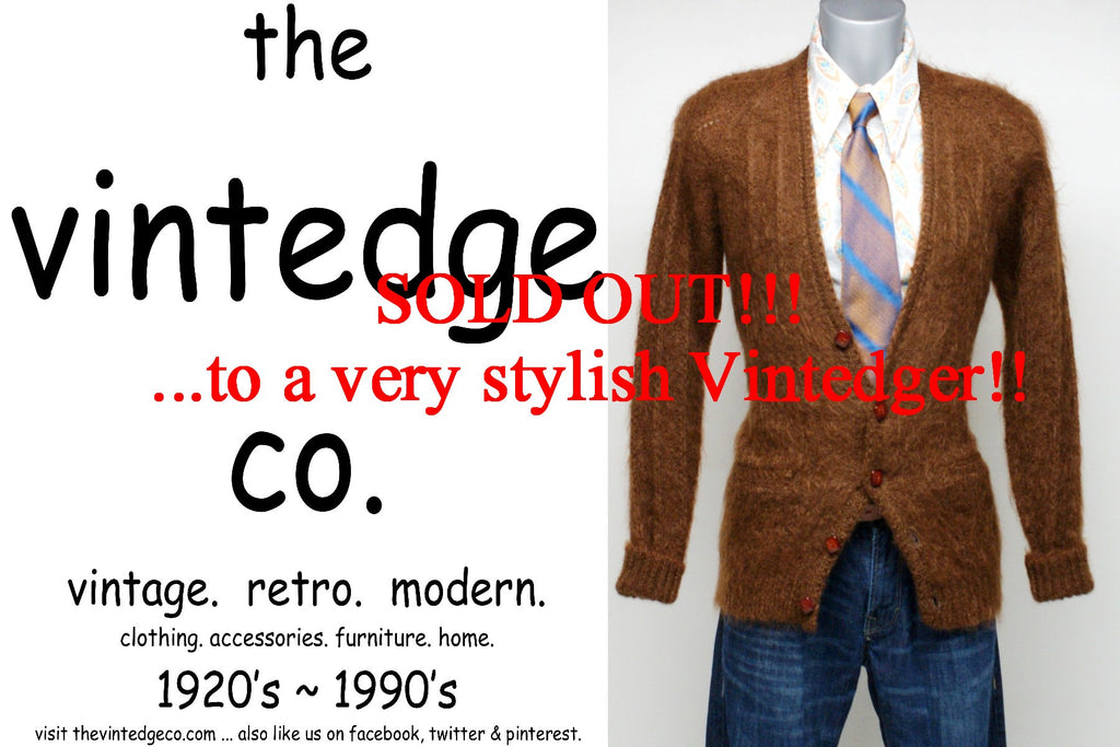 SOLD - Vintage Mens Cardigan Sweater
