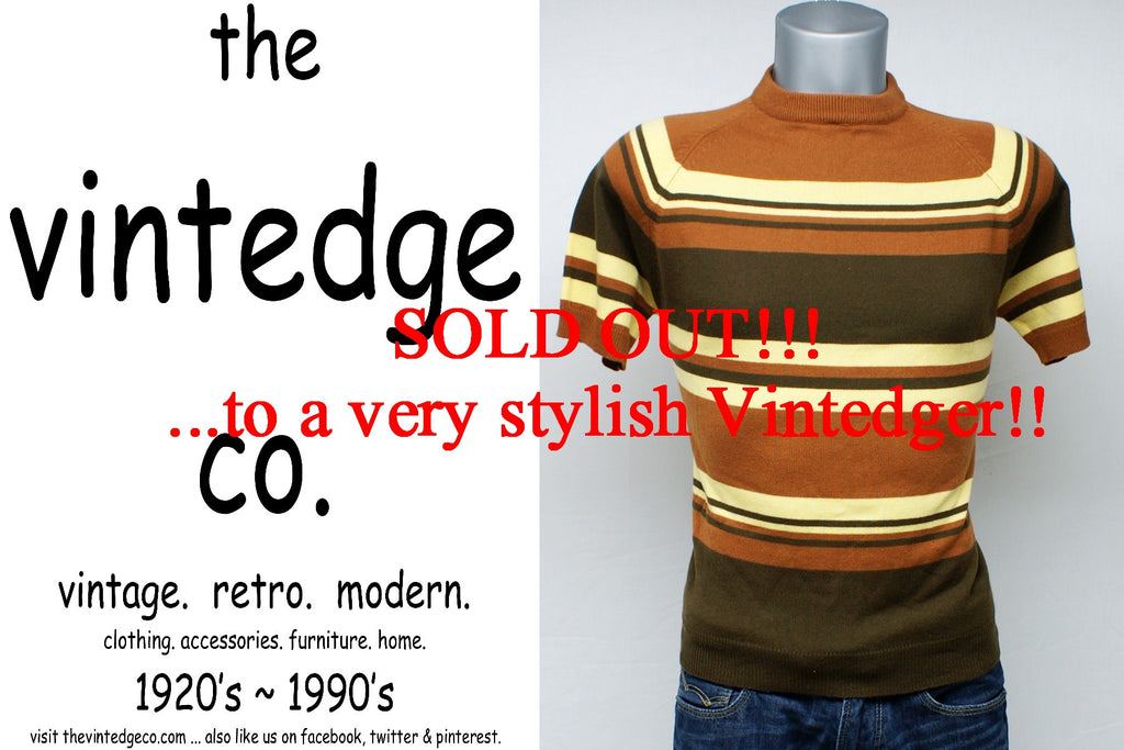 SOLD - Vintage Mens Knit Shirt