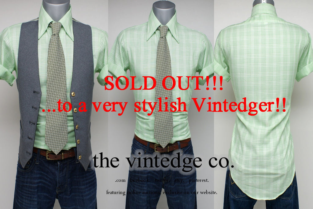 SOLD - Vintage Mens Green Shirt