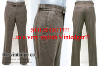 SOLD - Vintage Mens Wool Pants