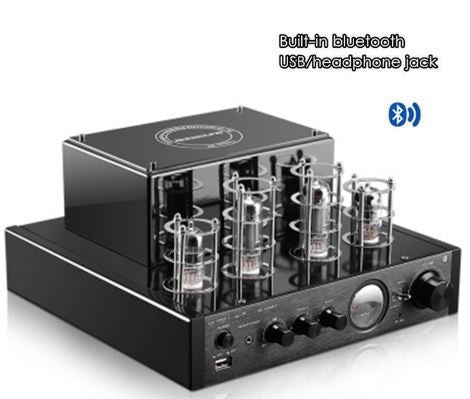 Tube amplifier with Bluetooth/USB/headphone HIFI Stereo AMP audio amplifier