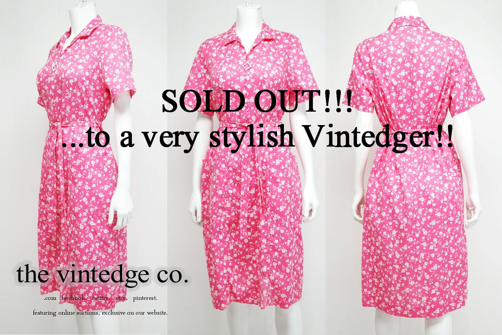 SOLD - 1950's Retro Floral Dress
